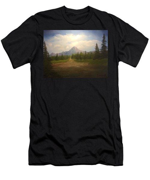 Mountain Run Road  Men's T-Shirt (Athletic Fit)