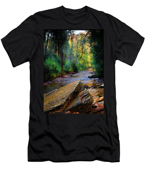 Mountain Stream N.c. Men's T-Shirt (Athletic Fit)