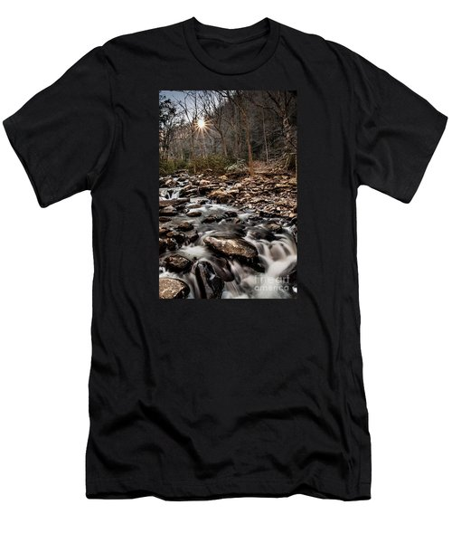 Men's T-Shirt (Slim Fit) featuring the photograph Icy Mountain Stream by Debbie Green