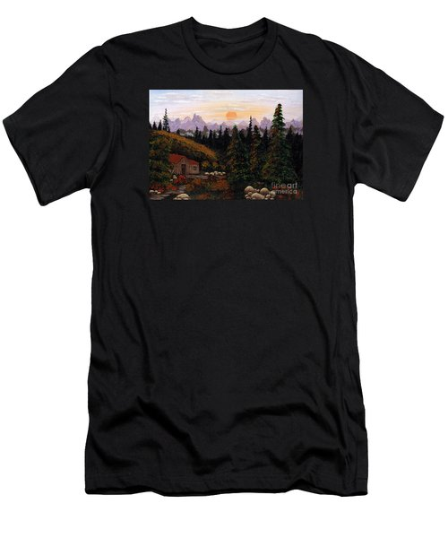 Mountain View Men's T-Shirt (Slim Fit) by Barbara Griffin