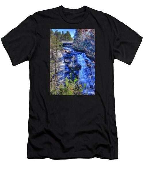 Mountain Waterfall Men's T-Shirt (Athletic Fit)