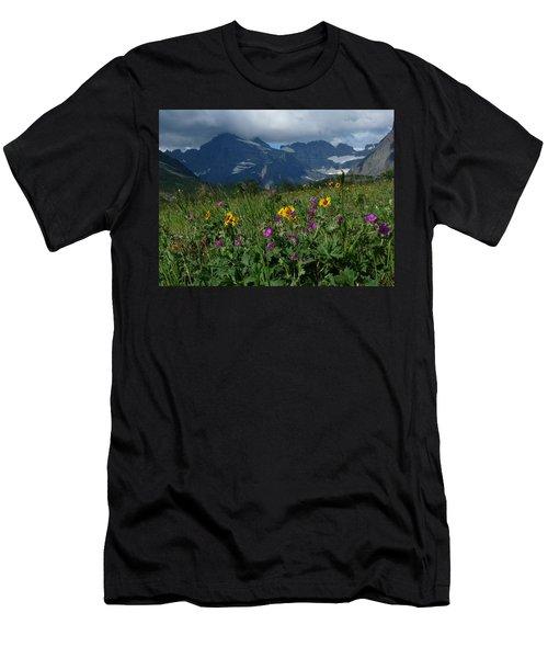 Mountain Wildflowers Men's T-Shirt (Slim Fit) by Alan Socolik