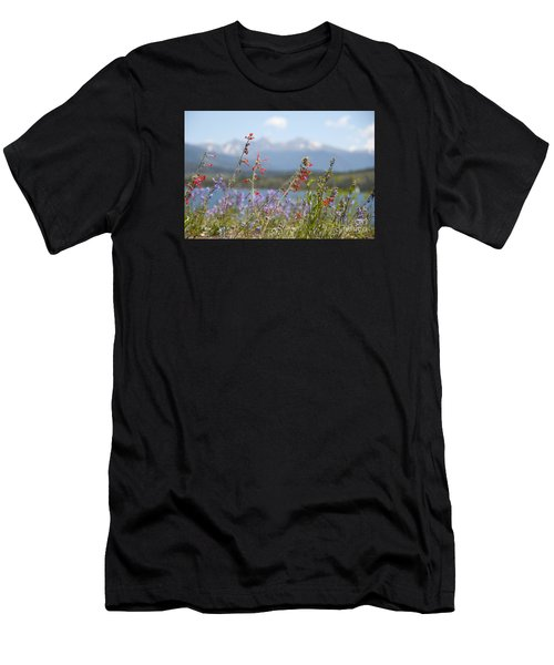 Mountain Wildflowers Men's T-Shirt (Athletic Fit)