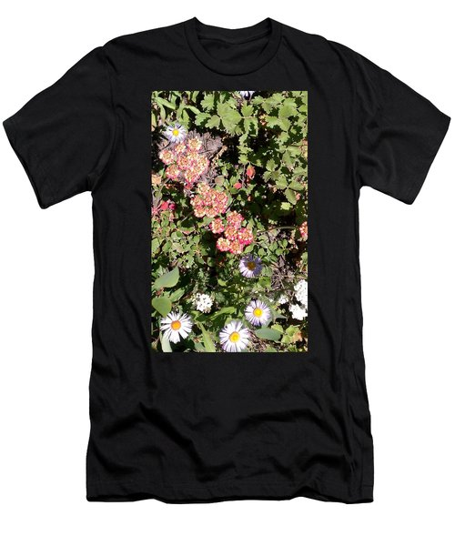 Men's T-Shirt (Slim Fit) featuring the photograph Mountain Wildflowers by Fortunate Findings Shirley Dickerson