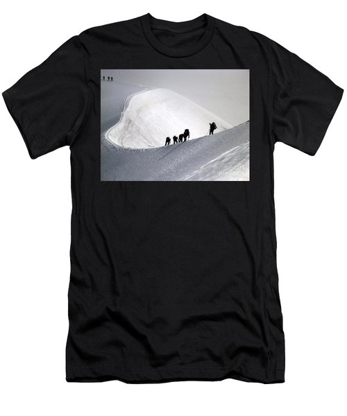 Mountaineers To Conquer Mont Blanc Men's T-Shirt (Athletic Fit)