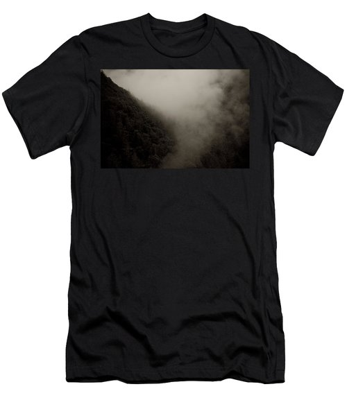 Mountains And Mist Men's T-Shirt (Slim Fit) by Shane Holsclaw