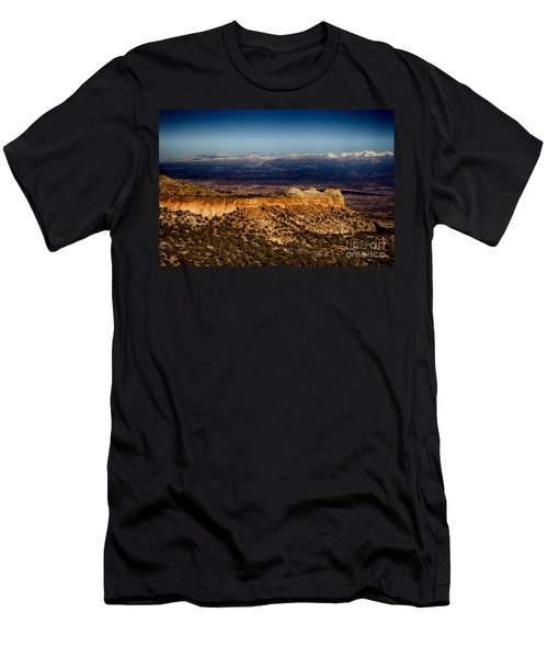 Mountains At Senator Clinton P. Anderson Scenic Route Overlook  Men's T-Shirt (Slim Fit) by Douglas Barnard