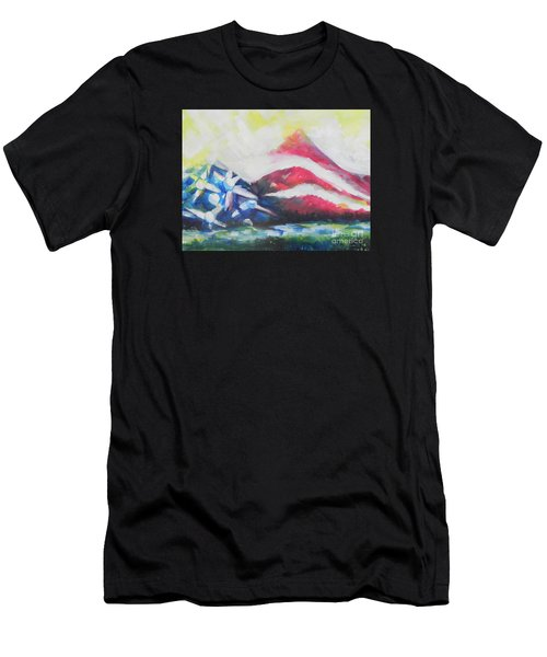Mountains Of Freedom Two Men's T-Shirt (Athletic Fit)