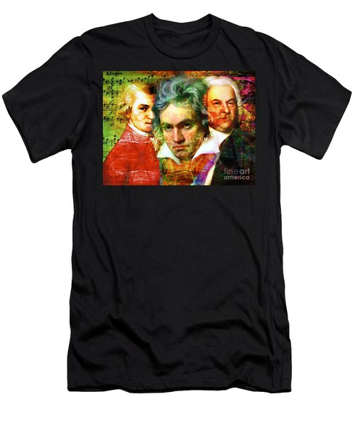 Mozart Beethoven Bach 20140128 Men's T-Shirt (Athletic Fit)