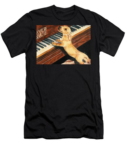 Men's T-Shirt (Athletic Fit) featuring the drawing Mozart's Apprentice by Barbara Keith