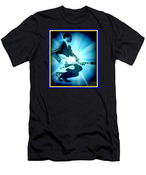 Mr Chuck Berry Blueberry Hill Style Edited Men's T-Shirt (Slim Fit) by Kelly Awad