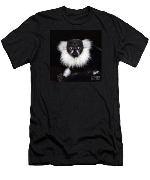 Men's T-Shirt (Slim Fit) featuring the photograph Mr Lemur by Terri Waters