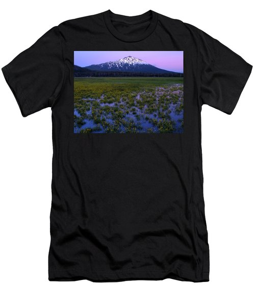 Men's T-Shirt (Slim Fit) featuring the photograph Mt. Bachelor Twilight by Kevin Desrosiers