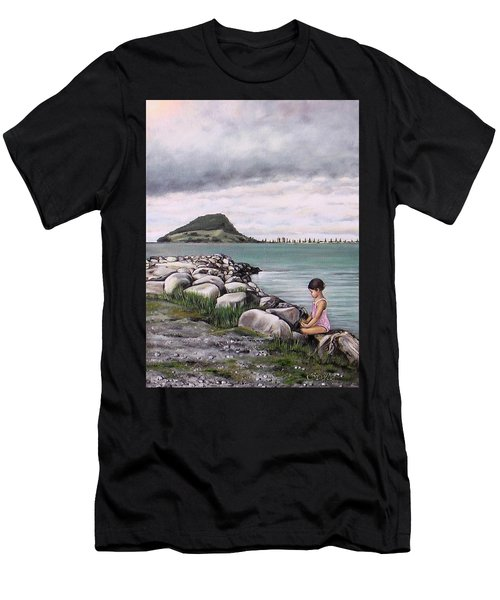 Mt Maunganui 140408 Men's T-Shirt (Athletic Fit)