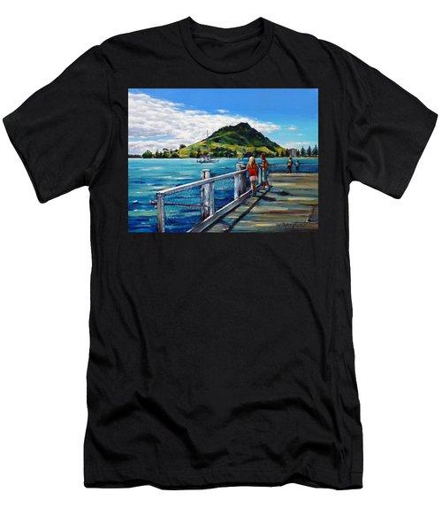 Mt Maunganui Pier 140114 Men's T-Shirt (Athletic Fit)