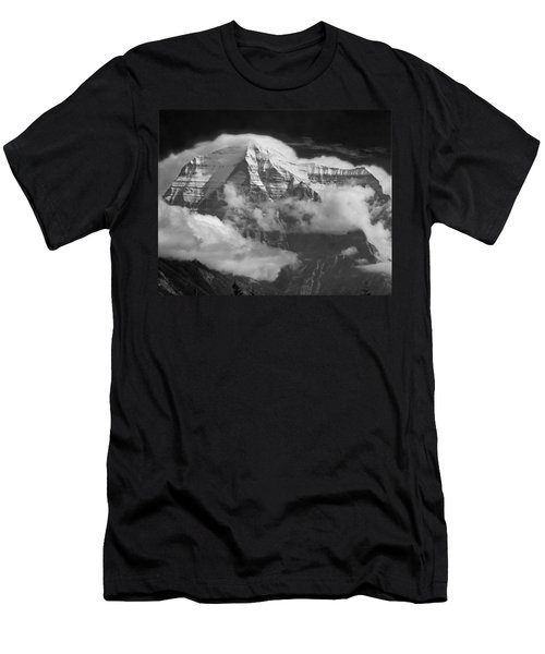 102496-mt. Robson Wreathed In Clouds Men's T-Shirt (Athletic Fit)