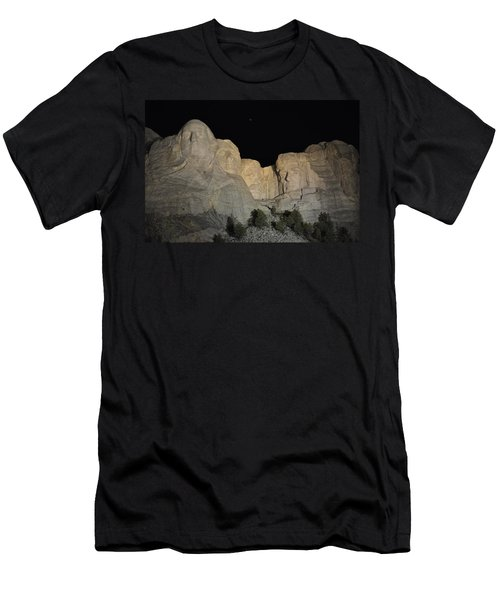 Mt. Rushmore At Night Men's T-Shirt (Athletic Fit)