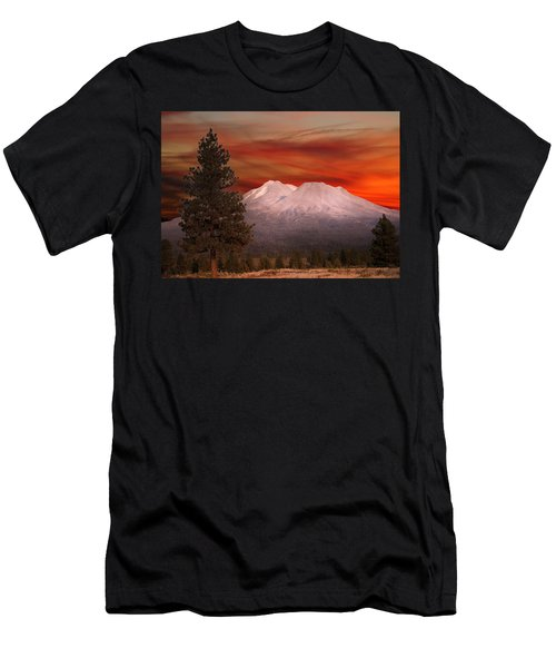 Mt Shasta Fire In The Sky Men's T-Shirt (Athletic Fit)