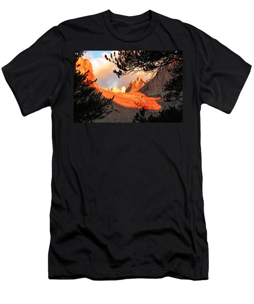 Men's T-Shirt (Slim Fit) featuring the photograph Mt. Whitney Sunrise by Alan Socolik