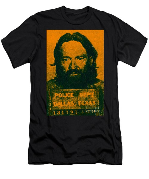 Mugshot Willie Nelson P0 Men's T-Shirt (Athletic Fit)