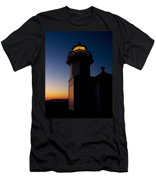 Men's T-Shirt (Slim Fit) featuring the photograph Mukilteo Light House Sunset by Sonya Lang