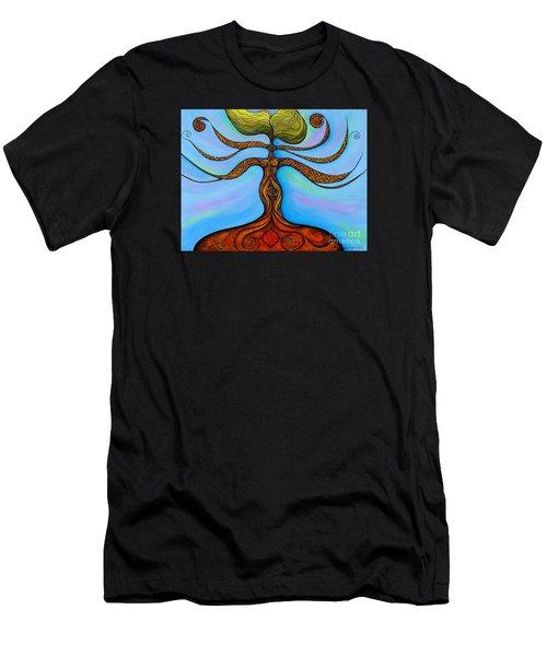 Men's T-Shirt (Slim Fit) featuring the painting Muladhara by Deborha Kerr