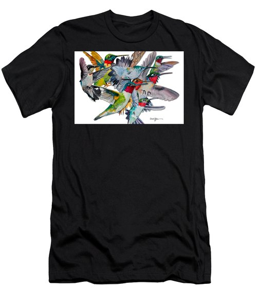 Da053 Multi-hummers By Daniel Adams Men's T-Shirt (Athletic Fit)