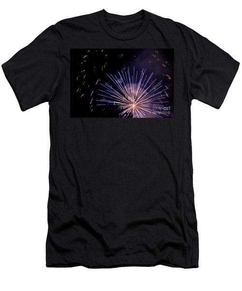 Men's T-Shirt (Slim Fit) featuring the photograph Multicolor Explosion by Suzanne Luft