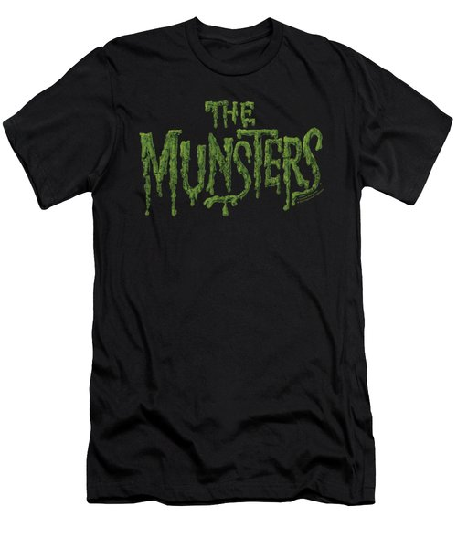 Munsters - Distress Logo Men's T-Shirt (Athletic Fit)