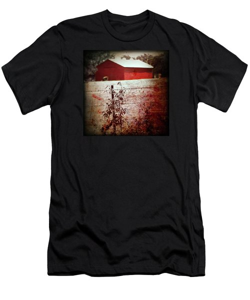 Murder In The Red Barn Men's T-Shirt (Slim Fit) by Trish Mistric
