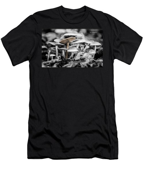 Men's T-Shirt (Athletic Fit) featuring the photograph Mushrooms by Stwayne Keubrick
