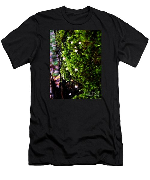 Men's T-Shirt (Slim Fit) featuring the photograph Mushrooms by Vanessa Palomino