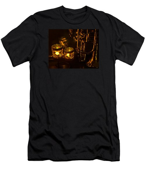 Trumpet And Candlelight Men's T-Shirt (Athletic Fit)