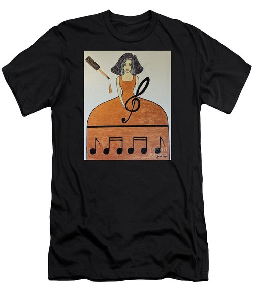 Music Lover Men's T-Shirt (Slim Fit) by Jasna Gopic