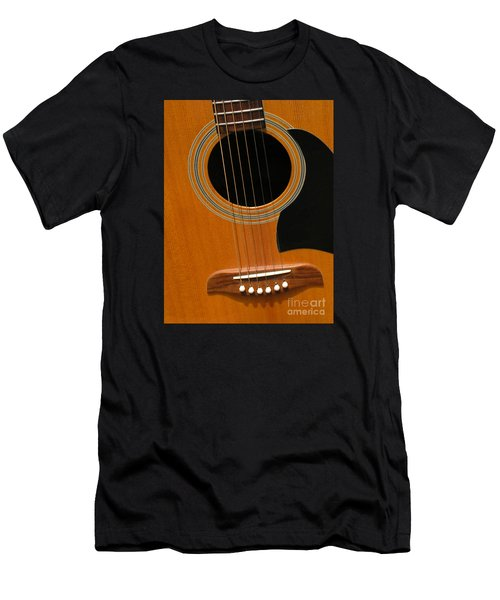 Men's T-Shirt (Slim Fit) featuring the photograph Musical Abstraction by Ann Horn