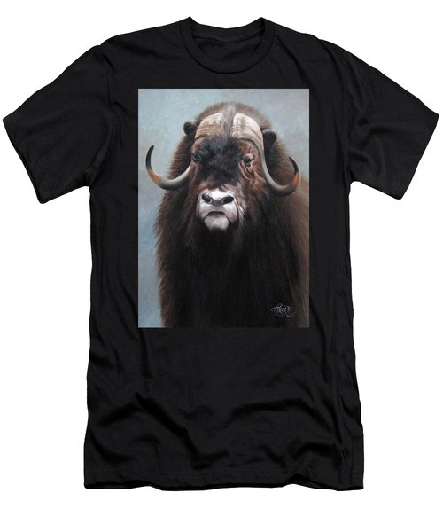 Men's T-Shirt (Athletic Fit) featuring the painting Musk Ox by Tammy Taylor