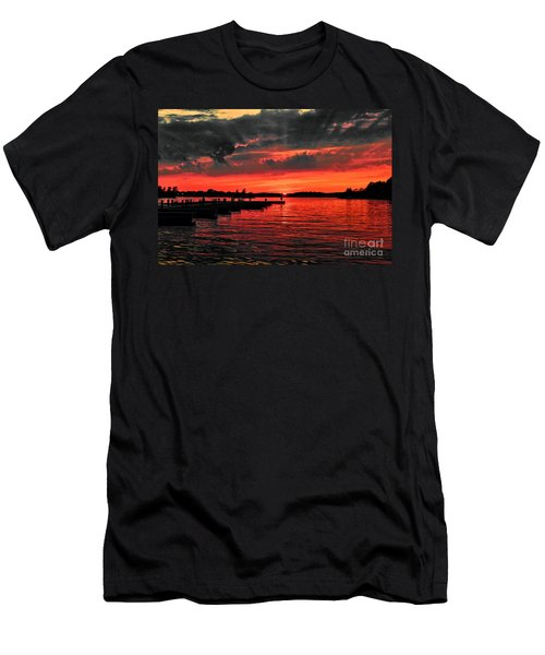 Muskoka Sunset Men's T-Shirt (Slim Fit) by Les Palenik