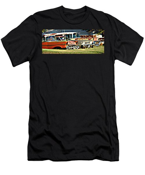 Men's T-Shirt (Slim Fit) featuring the digital art My Cars by Cathy Anderson