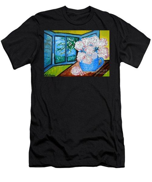My Grandma S Flowers   Men's T-Shirt (Athletic Fit)