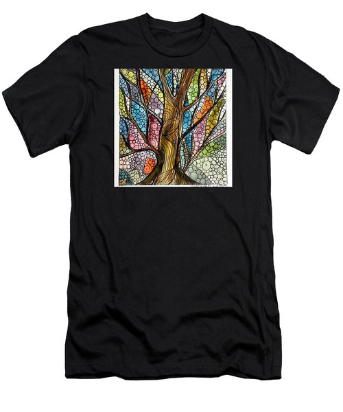 My Happy Watercolor Tree Men's T-Shirt (Athletic Fit)