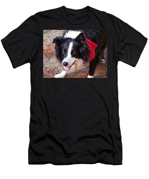 Female Border Collie Men's T-Shirt (Slim Fit) by Eunice Miller