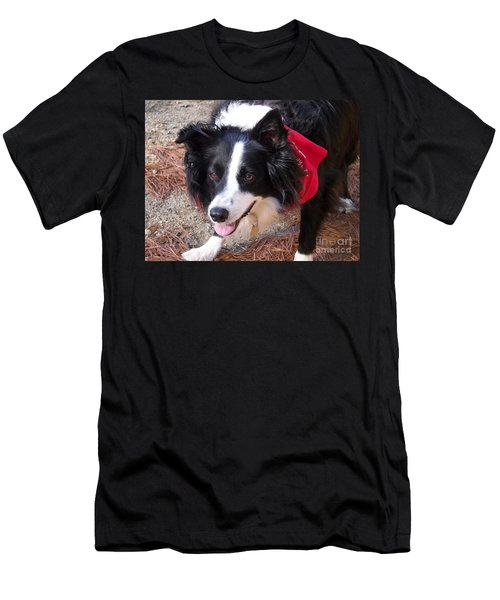 Female Border Collie Men's T-Shirt (Athletic Fit)