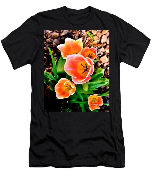 My Mom's Tulips Men's T-Shirt (Athletic Fit)