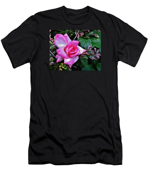 Men's T-Shirt (Slim Fit) featuring the photograph My Perfect Tea Rose by VLee Watson