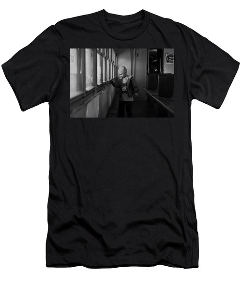 Men's T-Shirt (Slim Fit) featuring the photograph My Shadow by Jeremy Rhoades