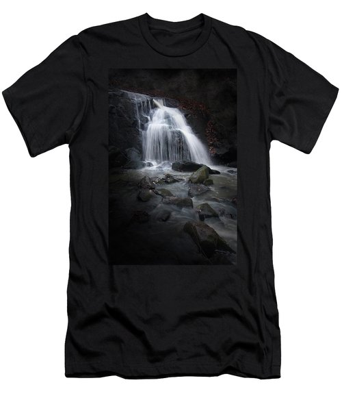 Mysterious Waterfall Men's T-Shirt (Athletic Fit)