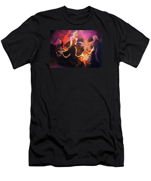 Men's T-Shirt (Slim Fit) featuring the painting Mystic Circle by Georg Douglas