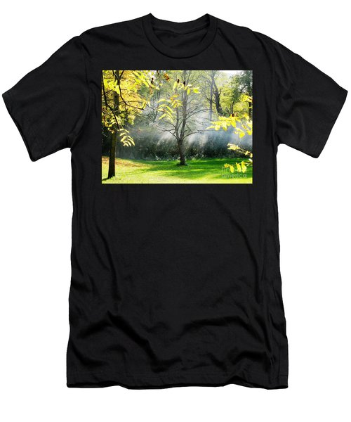 Men's T-Shirt (Slim Fit) featuring the photograph Mystical Parkland by Nina Silver
