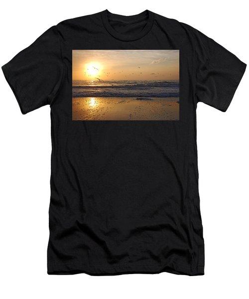 Naples Beach Men's T-Shirt (Athletic Fit)