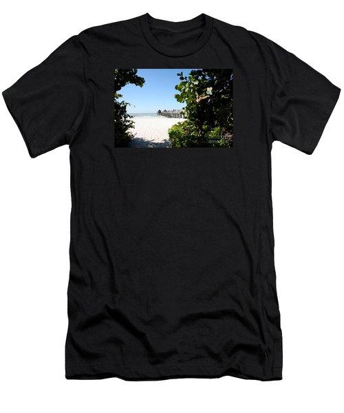 Naples Pier View Men's T-Shirt (Athletic Fit)